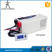 free shipping ups system LCD remote controller 50Hz 12v/24v charger inverter pure sine wave charger inverter 1000w