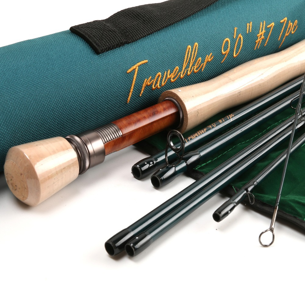 Maximumcatch Full-well Fast Action Carbon Fiber Fly Fishing Rod 9FT 7WT 7PCS With Cordura Tube Traveller Fly Rod maximumcatch fly fishing rod 9ft 5wt 4pcs half well fast action with aluminium tube fly rod