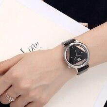 Unique Design Quartz Analog Hollow Style WristWatch Woman