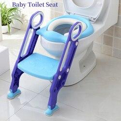 Asiento de inodoro para bebé, asiento de entrenador de inodoro plegable, asiento de orinal para niños, artículos de tocador para niños con escalera ajustable, silla de orinal para niños