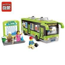 1121 ENLIGHTEN City Bus Station Model Building Blocks Action Figure Toys For Children Compatible Legoe