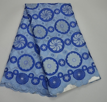 African Cotton Lace Fabric High Quality Soft Voile Fabric For Sewing Party Dress Swiss Voile Lace High Class Design TS6605