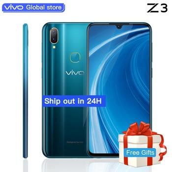 b9a20cd1055 Original Vivo Z3 teléfono móvil celular Android 8,1 4G LTE Snapdragon 710  Octa Core infrarrojos cara despertar Smartphone 16MP