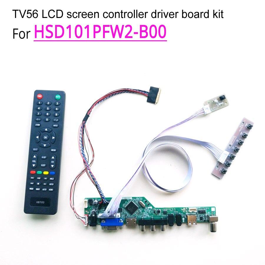 For HSD101PFW2 B00 40 pin 1024 600 WLED 10 1 LVDS laptop LCD screen HDMI VGA