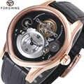 FORSINING nouvelle mode Auto montres mécaniques pour hommes Top marque luxe bracelet en cuir chiffres romains Tourbillon homme montres