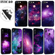 IYICAO Purple Space Star Soft Silicone Phone Case for Xiaomi Redmi K20 8A 7A 6A 5A S2 4X 4A GO Note 8 7 5 Plus 6 Pro Black Cover(China)