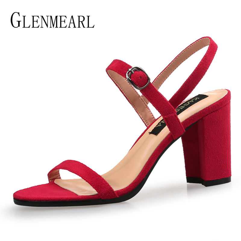 High Heels Women Sandals Brand Rome Open Toes Summer Shoes Woman Plus Size Ankle Strap Buckle Female Party Wedding Shoes 2019 DE