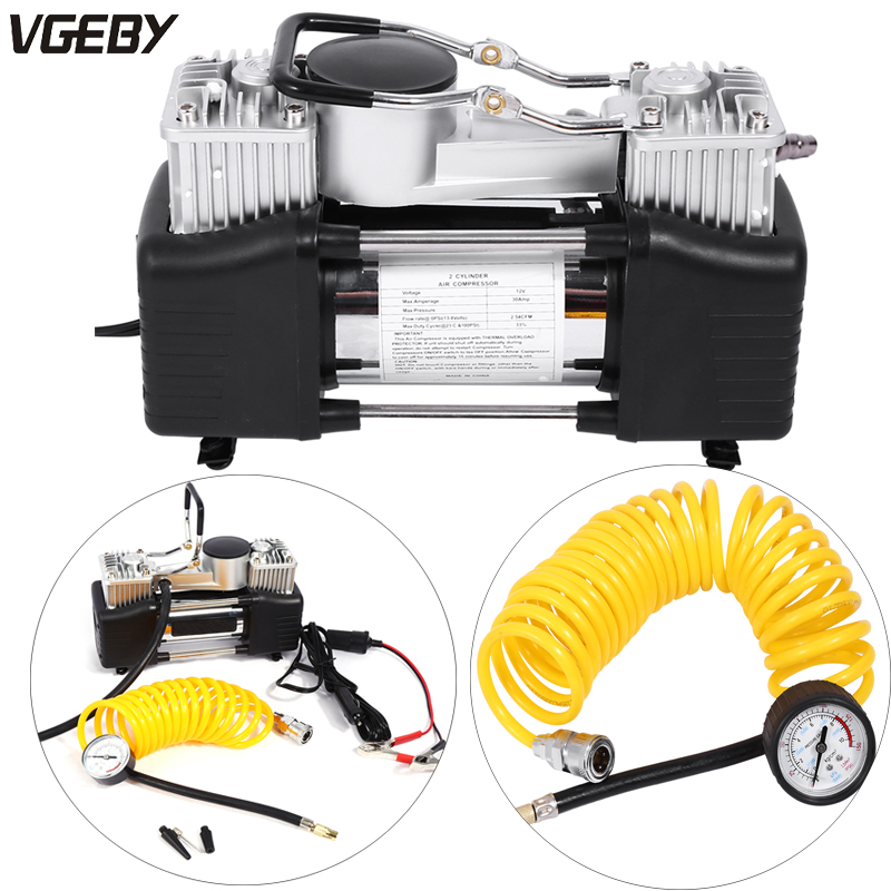 150psi 35l 4wd Air Compressor Car Tyre Inflator Kit Pressure Pump 12v Heavy Duty Fast Twin Piston Cylinder Tyre Inflator A Complete Range Of Specifications