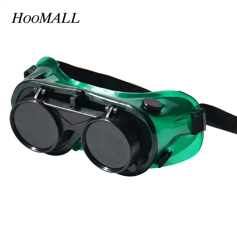 Hoomall New Dark Green Welding Goggles Safety Protective Goggle Tool Parts Accessories Eye  Double Turning Glasses new dark green protection goggles laser safety glasses eye spectacles protective workplace safety
