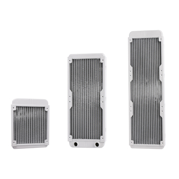 1PC White 120/240/360mm Aluminium Water Cooling Computer Radiator Water Cooler 18 Tube CPU Heat Sink Exchanger development of storage system based on earth tube heat exchanger