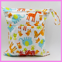 Baby Stroller Accessory Diapers Storage Bag Double Zipper Waterproof Washable Diaper Hanging Bag Organizer
