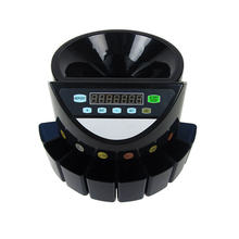 XD-9002 (Can Customized )electric coin sorter Led Display Digital Automatic Electronic Coin Counter Sorter Machine 220V/110v