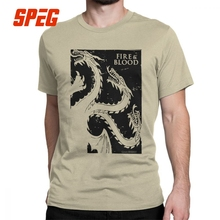 Game Of Thrones T Shirts for Men Jumbo House of Targaryen Graphic Tops Short Sleeve Vintage T-Shirt O Neck Cotton Tees Plus Size цена и фото