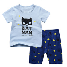 hot deal buy boys clothes 2018 new cotton casual brand boys clothing children summer boys clothes cartoon kids boy clothing set t-shit+pants