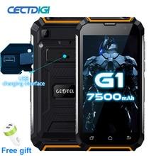 Geotel G1 כוח בנק smartphone 5.0 אינץ Andriod 7.0 MTK6580A Quad core 2GB RAM 16GB ROM 8.0MP מצלמה 7500mAh GPS 3G נייד טלפון