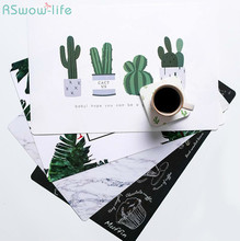 2Pcs Dining Table Insulation Mat Home Cartoon Restaurant Waterproof Placemat Western Dish Pad For