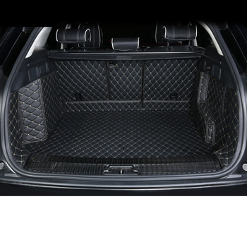 fiber leather car trunk mat for Range Rover Velar 2018 2019 car accessories