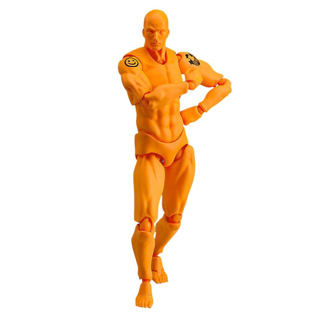 6 styles New designed Drawing Figures Artists Action Figure Model Human statue sculpture Mannequin Man Woman Kits New year gift table