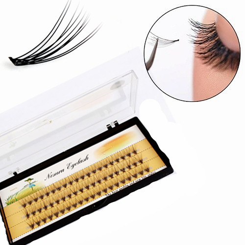 60pcs Professional Black Handmade Makeup Eyelashes For Building Individual Cluster Eye Lashes Grafting Fake False Eyelashes