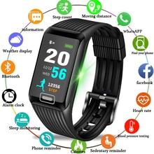 Купить с кэшбэком LIGE smart bracelet social information reminds waterproof sports smart wristband heart rate blood pressure monitor smart watch