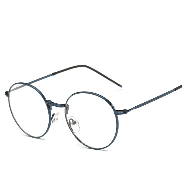 Anti Blue Light Computer Glasses Gaming Glasses Spectacle Women Men Of Metal And Vintage Eyeglasses Round Full-Rim gd3302