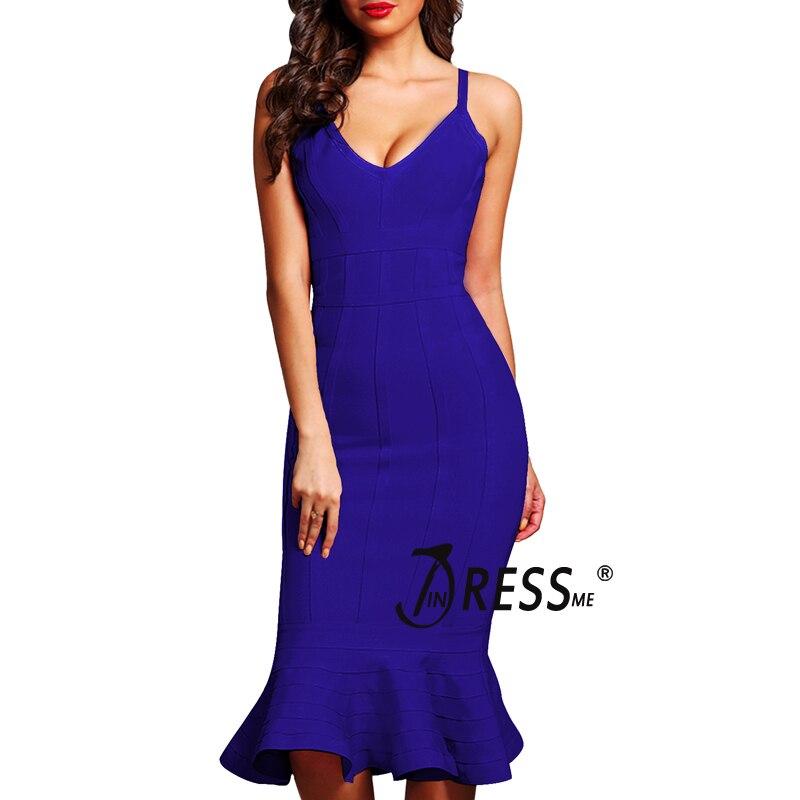 INDRESSME vestido de partido elegante del vendaje de las mujeres ...