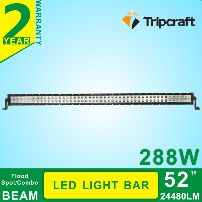 52 inch 288W Cre e LED Work Light Bar for Tractor Boat Off-Road 4WD 4x4 for Truck SUV ATV Spot Flood Combo Beam научные развлечения научные развлечения набор юный химик start