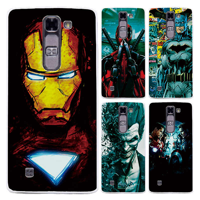 For LG Magna C90 Case Cover Charming Marvel Avengers Captain America Iron man For LG Magna C90 Fundas Capa