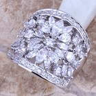 Fantastic White CZ 925 Sterling Silver Ring For Women Size 5 / 6 / 7 / 8 / 9 / 10 / 11 / 12 S0180