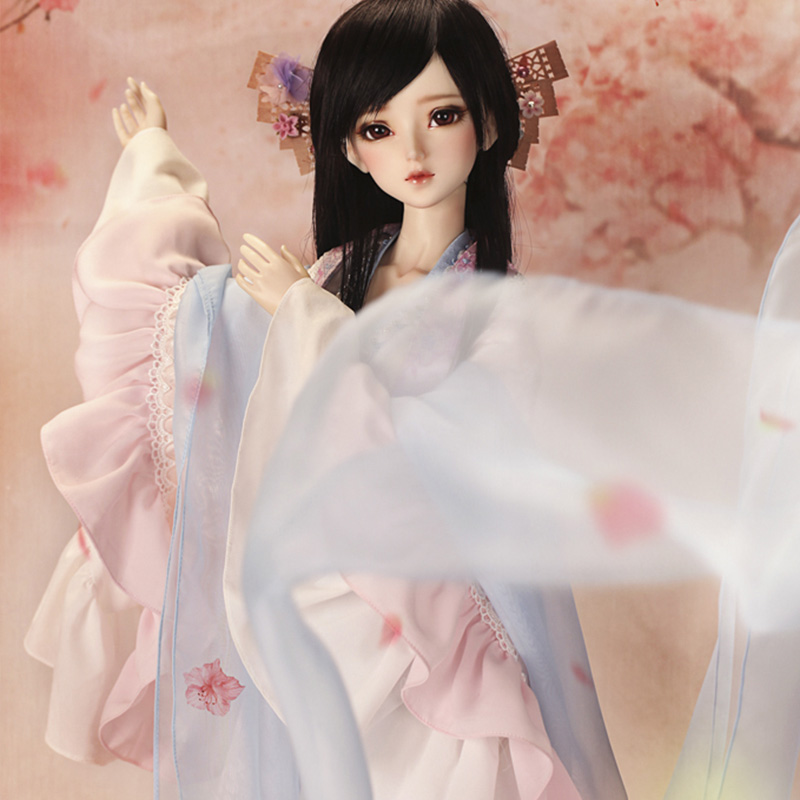 Nueva llegada BJD SD 1/3 como Xi Shi 62cm Hada chica ojos libres tienda de moda luodoll-in Muñecas from Juguetes y pasatiempos    3