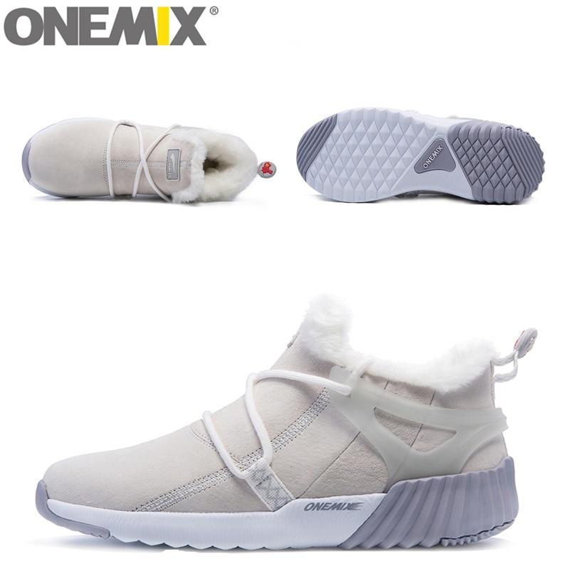 ONEMIX Vandtæt Snow Boots Kvinder Sneaker Mænd Trainers Walking - Kondisko - Foto 6