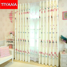 Custom Made Finished Curtains For Living Room Cute Princess Girl For Children Bedroom Blackout Curtains Drapery Tulle AG251&2