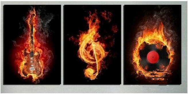 Hand Painting Canvas Music Modern Oil Painting Wall Art