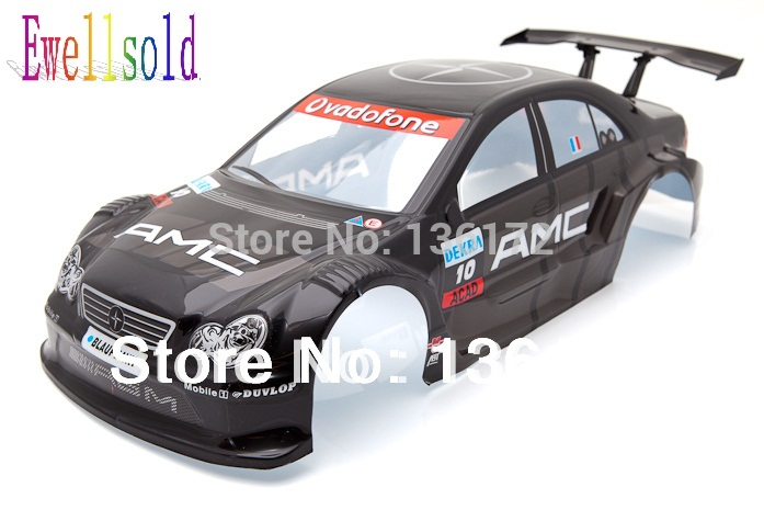 Ewellsold free shipping 2ocs/lot 1/10 body shell 195mm for 1/10 rc Car body shell 1:10 NO:S014B free shipping k5 metal shell
