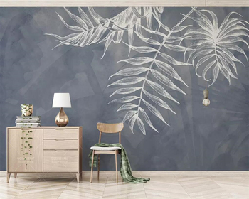 beibehang Plain style mural wallpaper leaf texture navy blue Nordic TV background wall living room bedroom murals 3d wallpaper цена 2017
