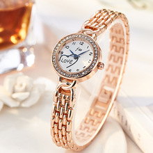 JW Brand Fashion Watches Bracelet Diamond Alloy Wristwatches Women Dress Watches Luxury Gift Women Gold Silver Quartz Watch