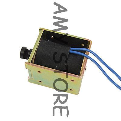 DC 24V 1.25A Open Frame Electric Solenoid Electromagnet dc 24v 1 2a 18mm 0 3kg pull electric solenoid electromagnet coil
