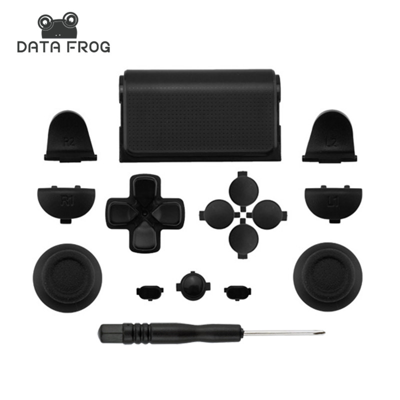 Black Full Sets Reservedele Knapper Til PlayStation 4 PS4 Controller til SONY DUALSHOCK 4 CONTROLLER