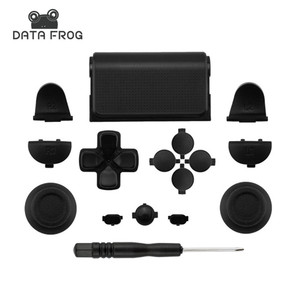 Black Full Sets Replacement Parts Buttons For PlayStation 4 PS4 Controller for SONY DUALSHOCK 4 CONTROLLER