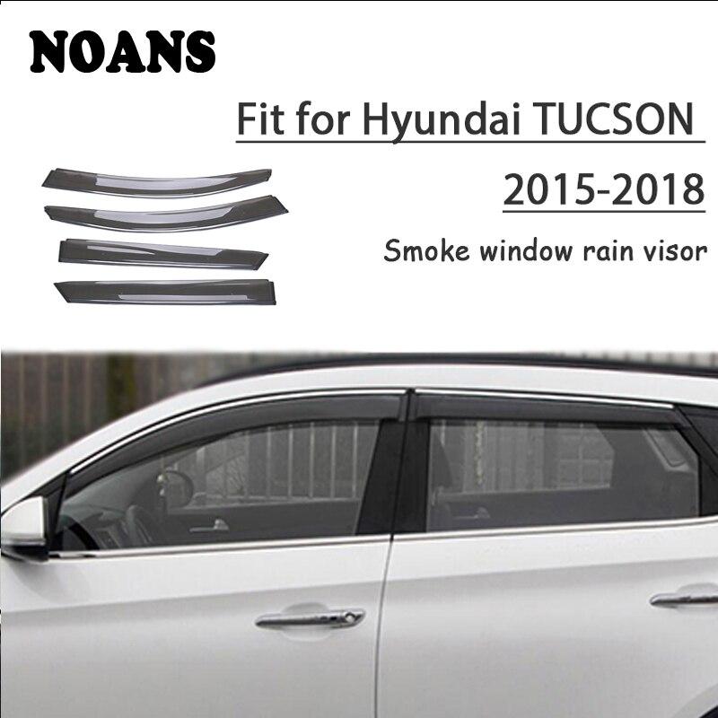NOANS 4pcs stickers For Hyundai Tucson 2018 2017 2016 2015 2008 Car Styling Accessories Windows Sun