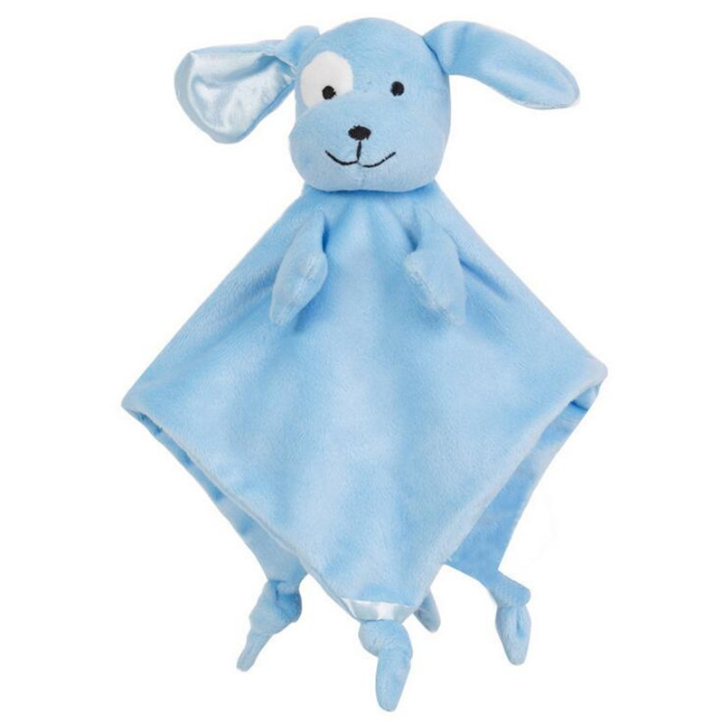 Baby Super Soft Calm Wipes Teethers Sheep & dog Comforting Doll Plush Towel Multifunctional Grasping Rattle toys