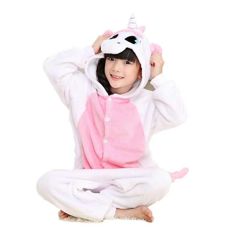 Uşaqlar üçün Çəhrayı Unicorn Pony Atesesies Onesie Pijamalar - Karnaval kostyumlar