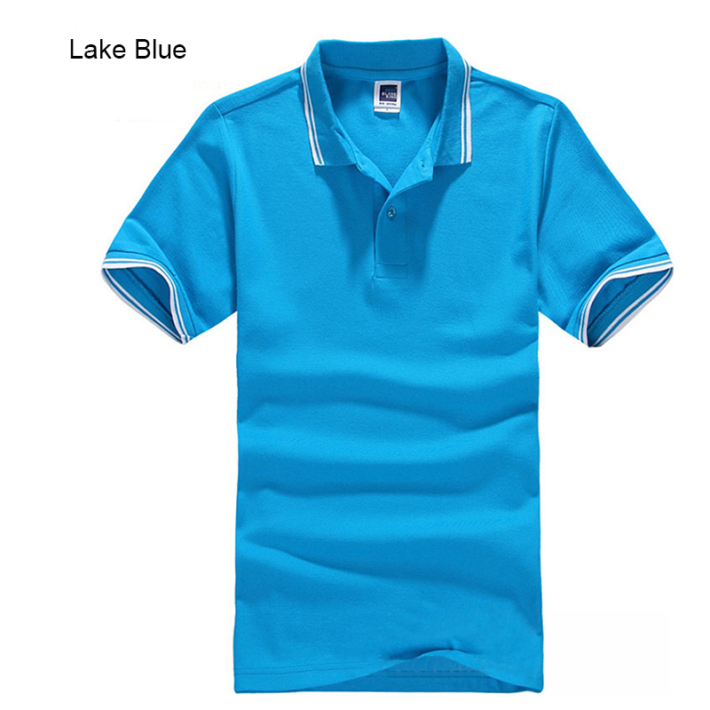 2017New Brand Men's Pikétröja för män Desiger Polos Men Bomull Kortärmad tröja Klädtröjor Golftennis Plus Storlek XS- XXXL