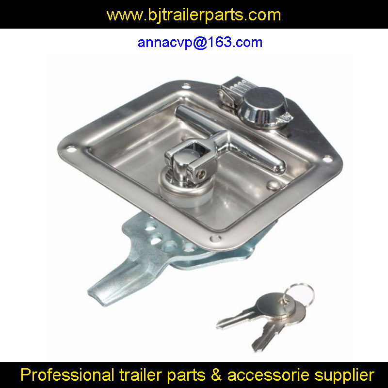 Steel Truck Tool Box >> Folding stainless steel panel T handle lock tool box lock latch Truck Trailer Camp RV parts-in ...