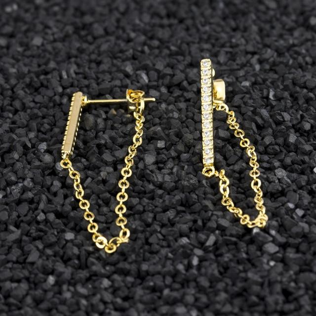 Long Chain Brincos Femme Gold Color Crystal Bar Stud Earrings For Women Tassel Jewelry Unique Best.jpg 640x640 - Long Chain Brincos Femme Gold Color Crystal Bar Stud Earrings For Women Tassel Jewelry Unique Best Friend Gift 2019