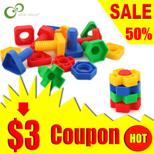 5sets Screw building blocks plastic insert blocks nut shape toys for children Educational Toys scale models WYQ(China)
