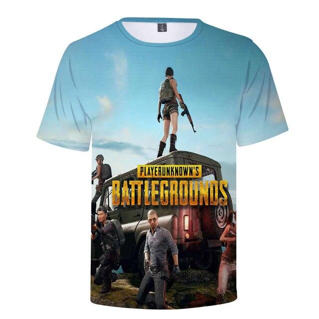 3D Game PUBG T-Shirt Summer New T Shirt Men's/Women 2018 Fashion Casual 3D Tshirt Men Harajuku PUBG 3D T shirts Men Tops 4