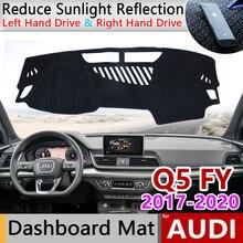 for Audi Q5 II 2017 2018 2019 2020 FY Anti-Slip Anti-UV Mat Dashboard Cover Pad Sun Shade Dashmat car Carpet Accessories S-line