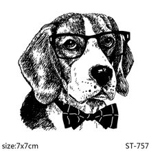 AZSG Gentlemanly Dog Clear Stamps For DIY Scrapbooking Decorative Card making Craft Fun Decoration  7*7cm