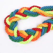 100% Cotton 5Meters 3 Shares Twisted Cords 12mm DIY Craft Decoration Rope Cord for Bag Drawstring Belt 15 Colors
